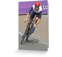 Bradley Wiggins  - Going For Gold - London 2012 Greeting Card