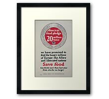 Americas food pledge 20 million tons 002 Framed Print