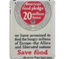 Americas food pledge 20 million tons 002 iPad Case/Skin