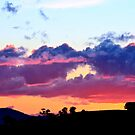Sunset over Yass Valley by Alison Hill