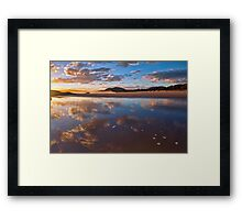 Reflected Clouds - South West Rocks, NSW Framed Print