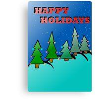 Holidays trees Canvas Print