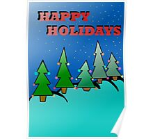 Holidays trees Poster