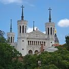 Basilica: Basilique Notre-Dame de Fourviere, Lyon, France by GrahamCSmith