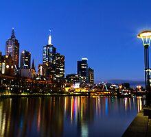 Yarra & northbank at dusk - Melbourne, Australia by clickedbynic