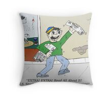 Extra News Headlines about US Stock Market Throw Pillow
