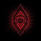 The Eye of Providence is watching you! (Diabolic red Freemason / Illuminati symbolic) by badbugs