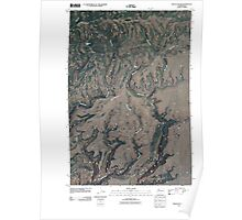 USGS Topo Map Washington State WA Bickleton NW 20110407 TM Poster