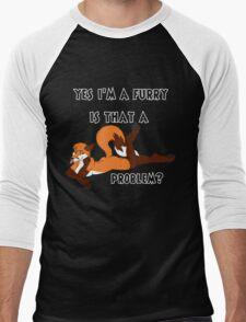 Furry and Proud of It Men's Baseball ¾ T-Shirt