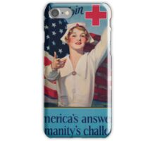 Join Red Cross symbol Americas answer to humanitys challenge iPhone Case/Skin