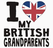 I Heart My British Grandparents Kids Tee