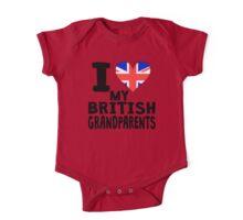 I Heart My British Grandparents One Piece - Short Sleeve