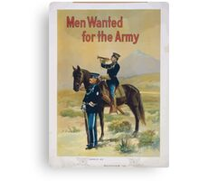 Men wanted for the army 1 Canvas Print