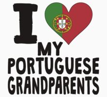 I Heart My Portuguese Grandparents Kids Clothes