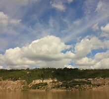 Clouds over the North Saskatchewan River by Jim Sauchyn