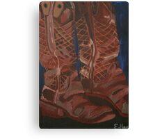 Brian's Bullhide Boots Canvas Print