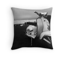 Scooter Rally Vibes Throw Pillow