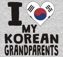 I Heart My Korean Grandparents One Piece - Long Sleeve