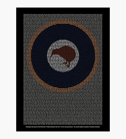 Roll of Honour 75(NZ) Squadron RNZAF 'Kiwi' Photographic Print