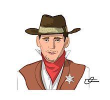 Tom Hiddleston - Western Cowboy Photographic Print