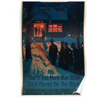 The Y has more than 2000 such homes for our boys United War Work Campaign November 11 18 Poster