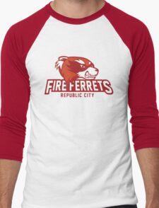 Republic City Fire Ferrets Men's Baseball ¾ T-Shirt