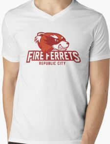 Republic City Fire Ferrets Mens V-Neck T-Shirt