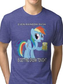 My Little Pony - Drinking With Rainbow Dash Tri-blend T-Shirt