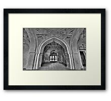 The arches of Sajja Kothi - Fort Panhala Framed Print