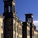 Turrets, Salt's Mill by Simon Bowen