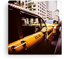 Vintage NYC Taxi Canvas Print