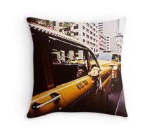 Vintage NYC Taxi Throw Pillow