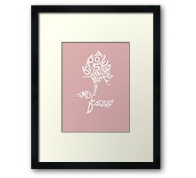 By Any Other Name - White Framed Print