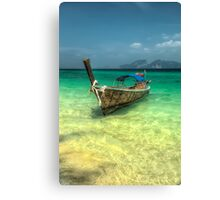 Thailand Longboat Canvas Print