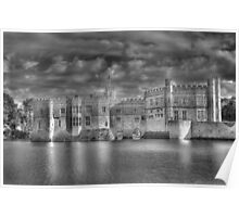 Leeds Castle in Black and White Poster