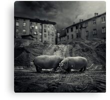 .workers. Canvas Print