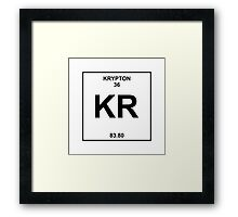 Krypton Periodic Table Framed Print