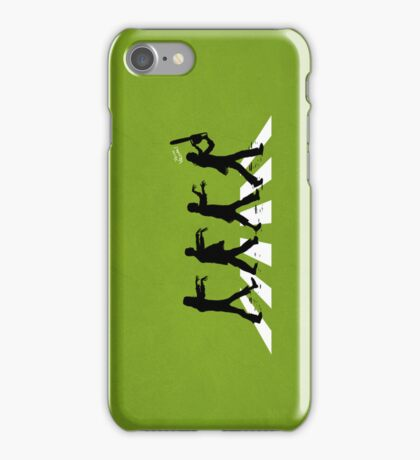 Zombies on Abbey Road Version 01 iPhone Case/Skin