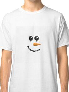 Cute Winter Snowman Face Classic T-Shirt