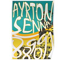 Senna Karting Poster