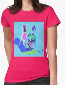 Dog- colour dog Womens Fitted T-Shirt