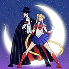Sailor Moon/Tuxedo Mask by gadgetwk