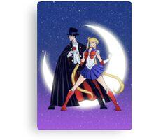 Sailor Moon/Tuxedo Mask Canvas Print