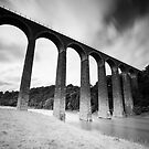 Leaderfoot Viaduct, Crossing the River Tweed, Near Melrose, Scottish Borders by Iain MacLean