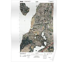 USGS Topo Map Washington State WA Steilacoom 20110422 TM Poster