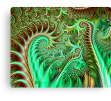Fern Sprouts in the Forest Canvas Print