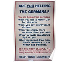 Are you helping the Germans 872 Poster