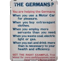 Are you helping the Germans 872 iPad Case/Skin