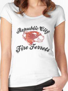 Fire Ferrets Street Shirt Women's Fitted Scoop T-Shirt