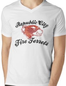 Fire Ferrets Street Shirt Mens V-Neck T-Shirt